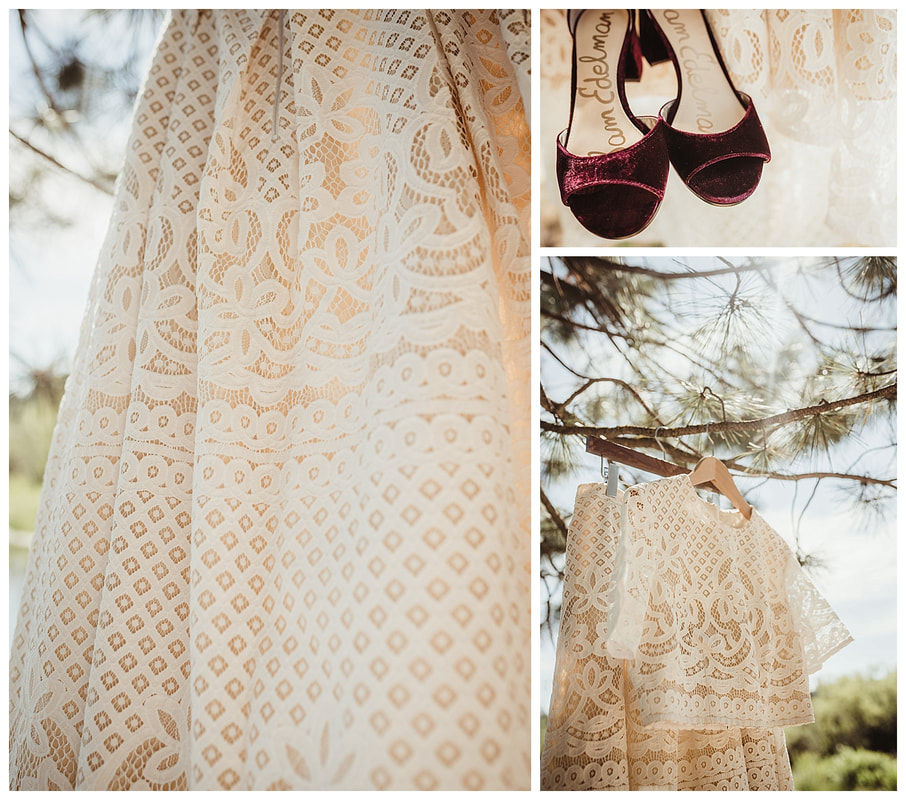 Bend Oregon wedding with lace wedding dress photo