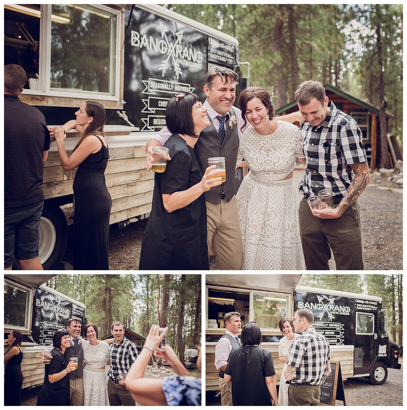 Intimate Bend, Oregon wedding along the banks of the Deschutes River catered by Bangarang Haute Cuisine