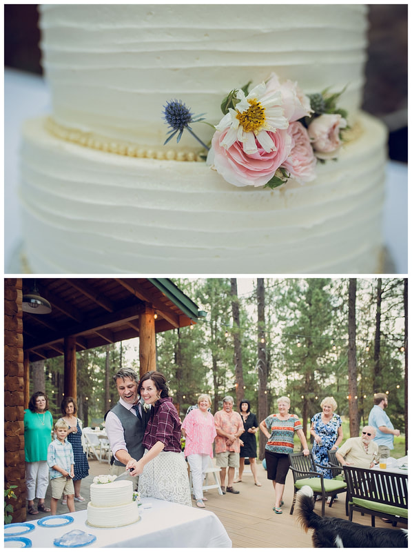 Intimate Bend, Oregon wedding receptionalong the banks of the Deschutes River
