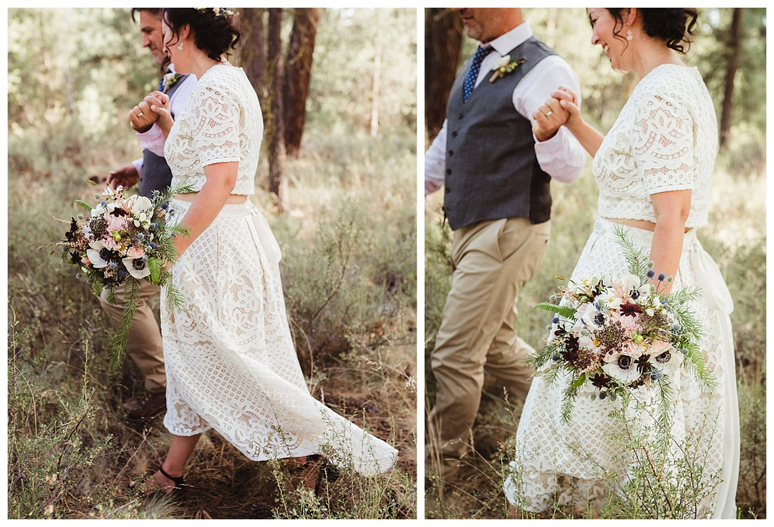 Sunriver, Oregon wedding photography along the Deschutes River.