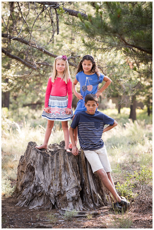 Family photos in Sunriver, Oregon