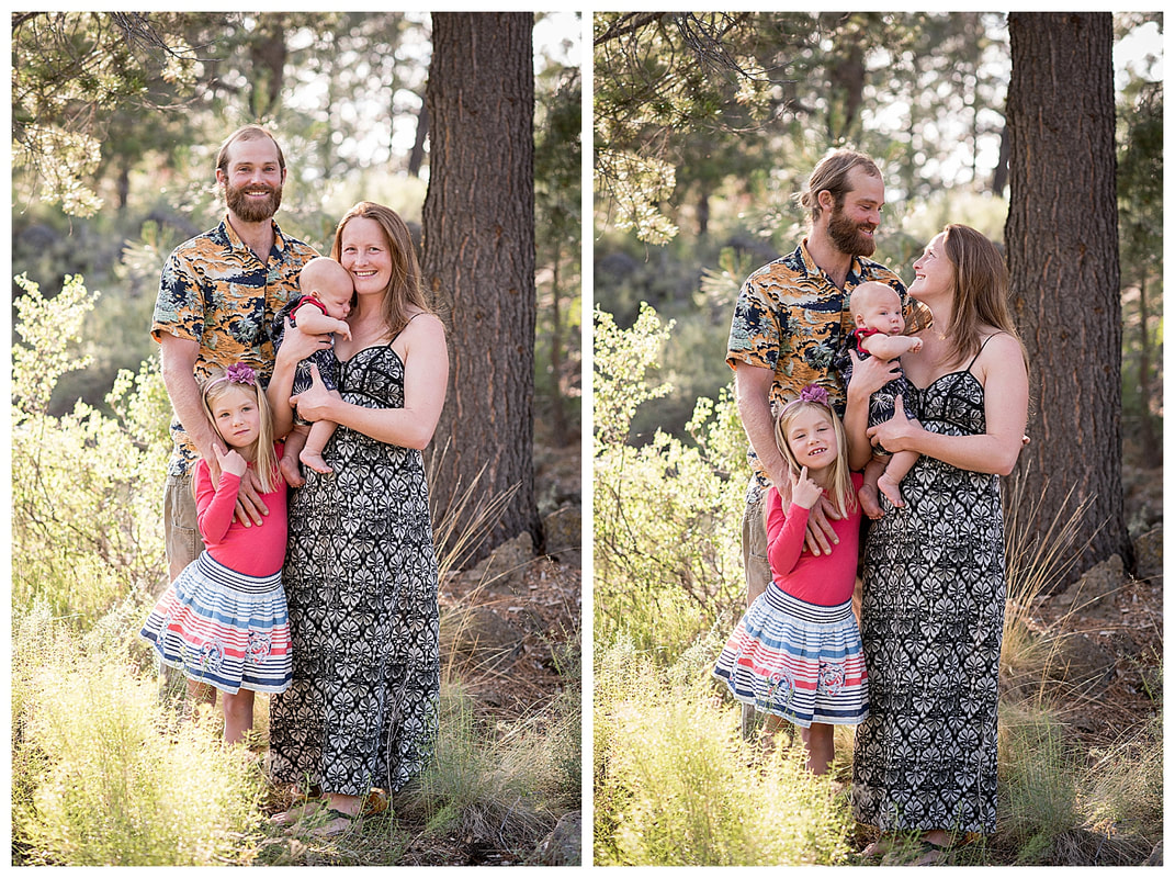 Family photo session in Sunriver, Oregon