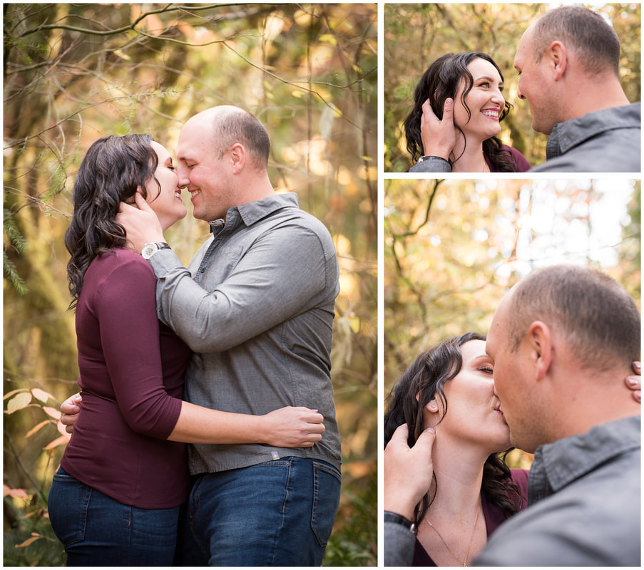 Engagement photos along the McKenzie River in Oregon